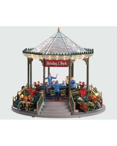 Sights /& Sounds Lemax Holiday Garden Green Bandstand